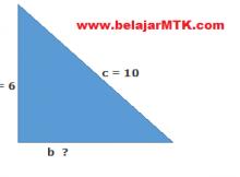 Contoh Soal Teorema Phytagoras