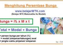 Menghitung Persentase Bunga Bank