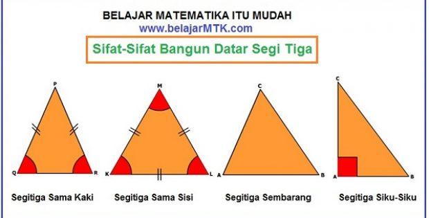 Belajar mtk belajar mtk matematika itu mudah sifat sifat bangun datar segi tiga ccuart Images