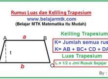 Rumus Luas Trapesium Dan Keliling Trapesium