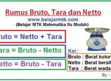 Bruto, Tara dan Netto