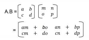 Cara Perkalian matriks 2x2 revisi