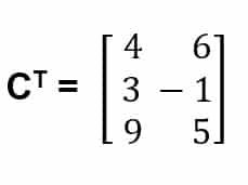 Contoh 3 hasil transpose