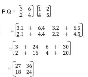 Jawaban perkalian dua matriks