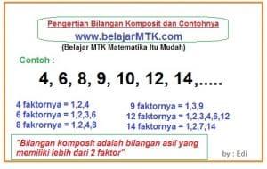 Pengertian Bilangan Komposit dan Contohnya