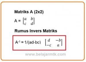 Rumus Invers Matriks 2x2