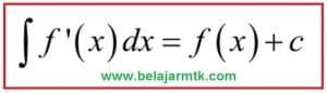 Rumus umum integral tak tentu