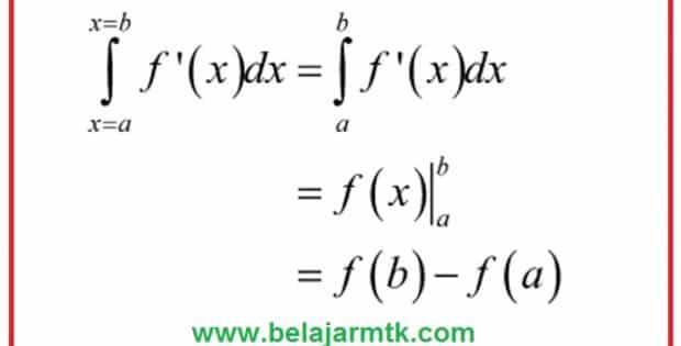 Bentuk umum dari integral tentu